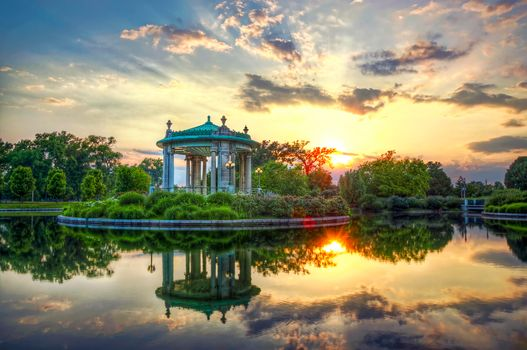 Photo free forest park, sunset, Forest Park