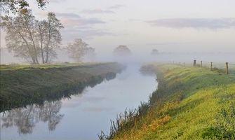 Бесплатные фото утро,река,канал,туман,деревья,пейзаж
