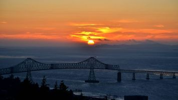Бесплатные фото мост, пролив, закат