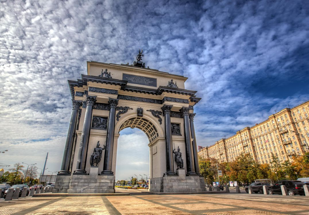 Фото бесплатно Триумфальная арка, Москва, Россия - на рабочий стол