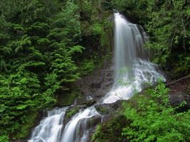 Бесплатные фото горы,растительность,река,водопад,камни,брызги