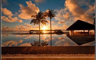 Фото бесплатно отдых, вила, пальмы