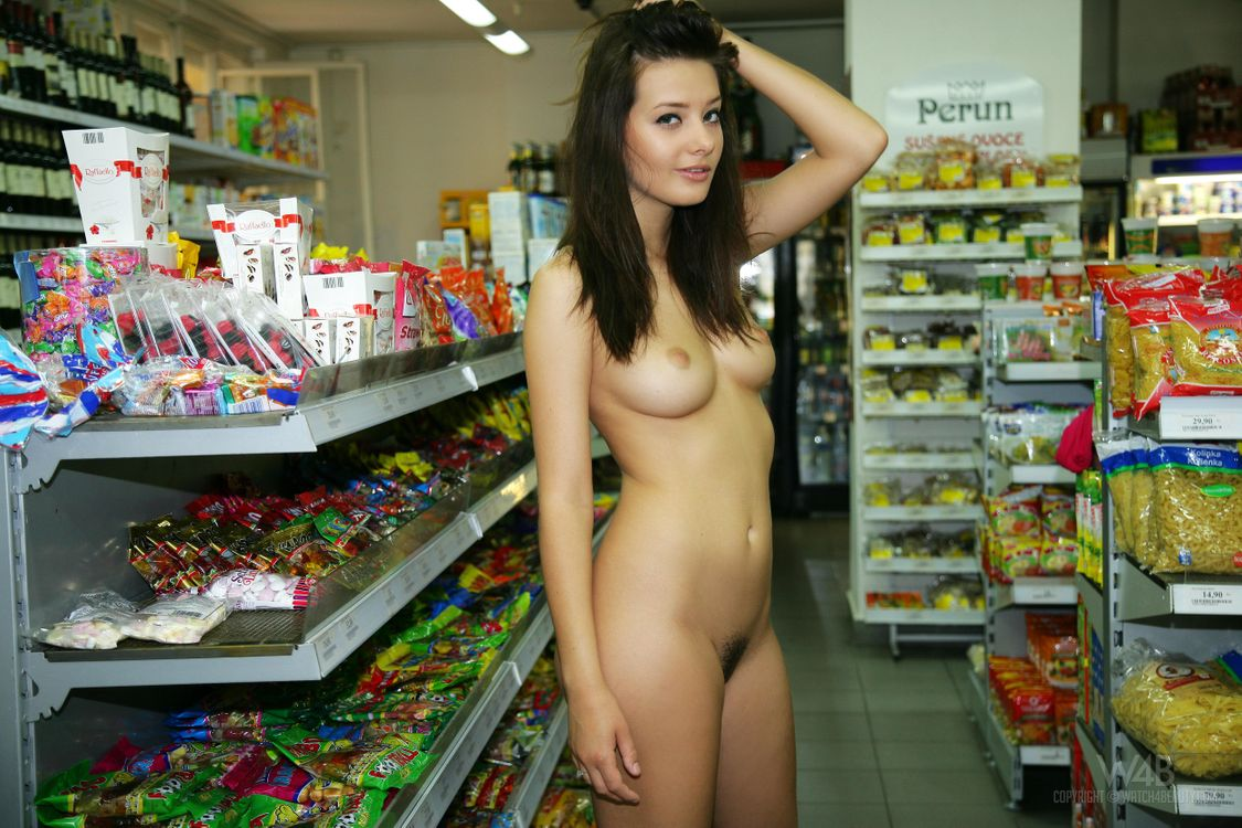 Supermarket girl is horny for sex — 10