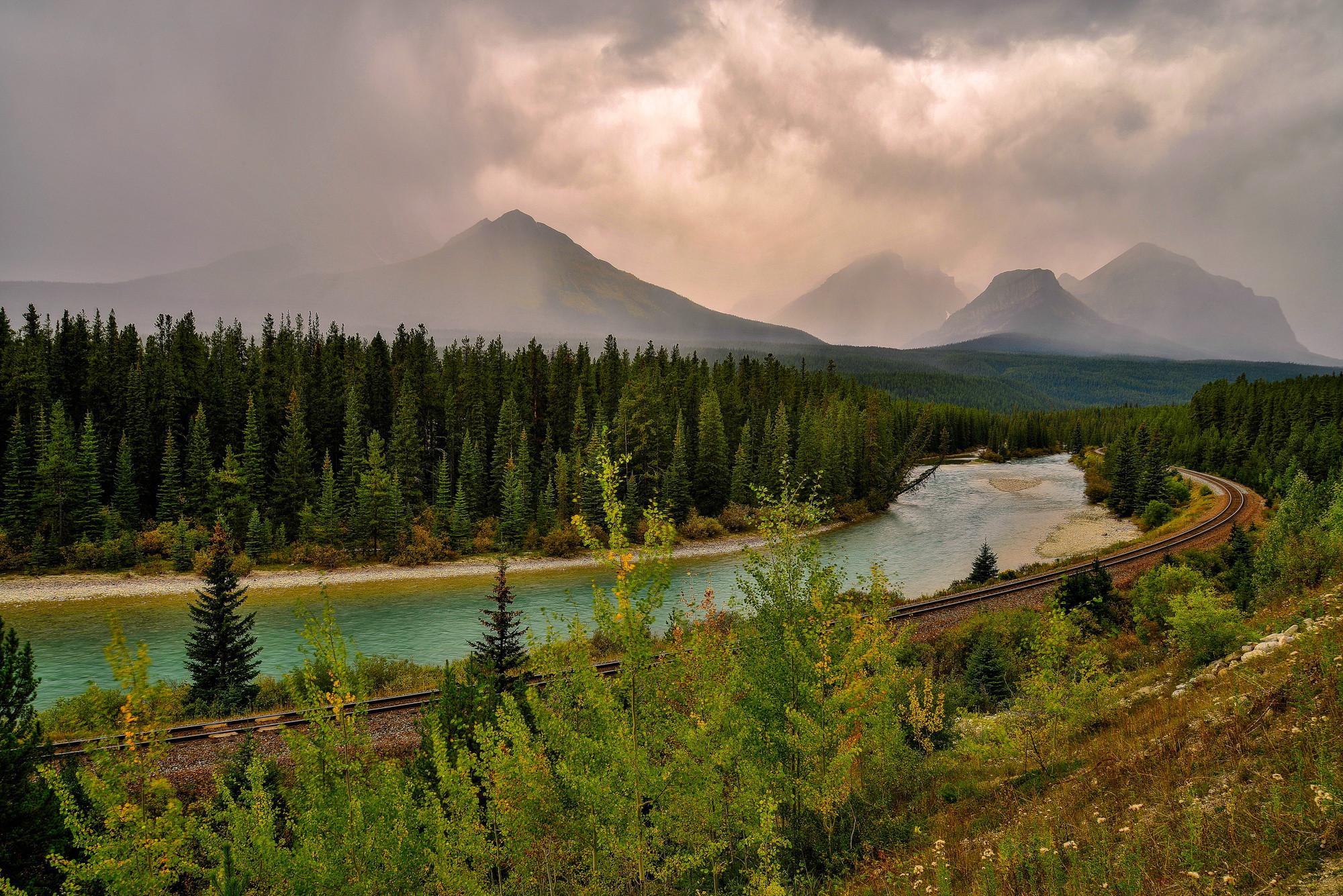 обои Banff national park Canadian Rockies, Alberta, Bow River, Canada картинки фото