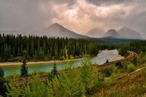 Бесплатные фото Banff national park Canadian Rockies,Alberta,Bow River,Canada
