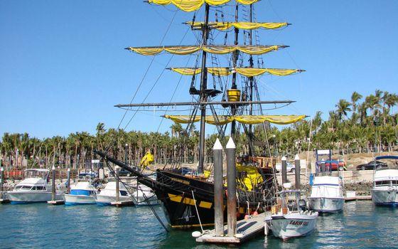 Фото бесплатно лодки, порт, море