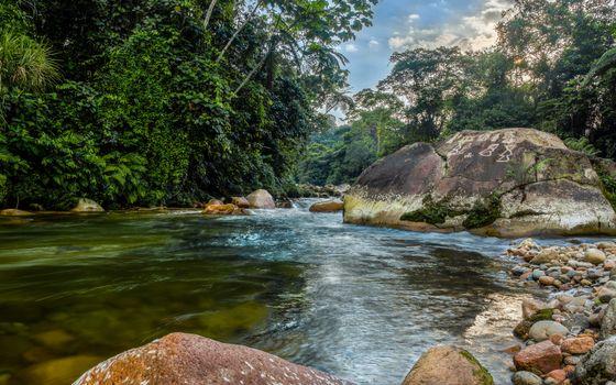 Бесплатные фото река,течение,пороги,камни,валуны