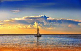 Photo free yacht, deck, man