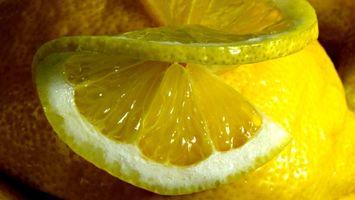 Фото бесплатно фрукт, лимон, долька