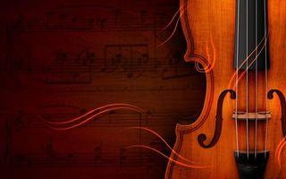 Заставки скрипка, струны, ноты
