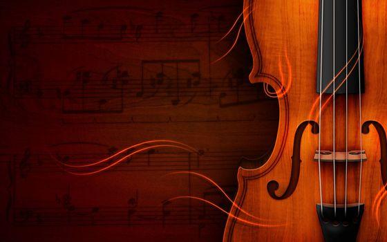 Фото бесплатно скрипка, струны, ноты