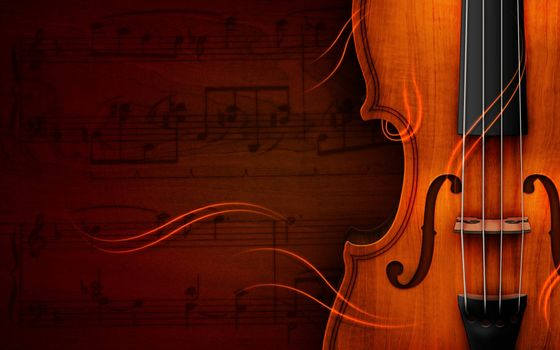 Photo free violin, strings, sheet music