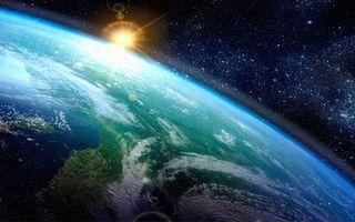 Бесплатные фото космический восход солнца,планета,Земля,звезды