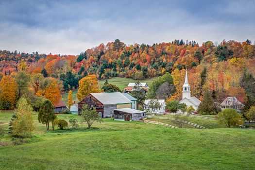 Photo free New England, Vermont fields, houses