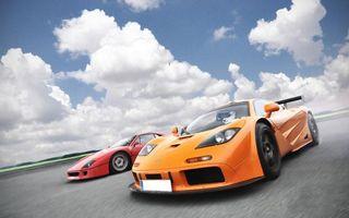 Бесплатные фото спорткары,феррари,макларен,гонка,скорость
