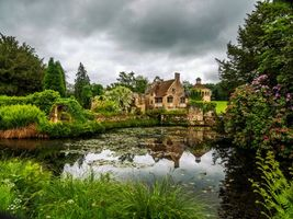 Бесплатные фото Великобритания,Кент,Замок Скотни,река,сад,парк,деревья