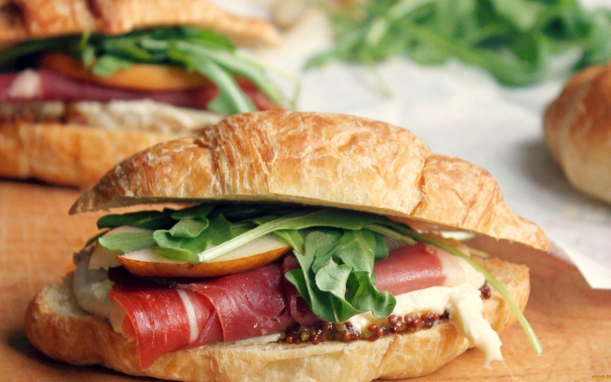 Фото бесплатно бутерброды, мясо, копченость - на рабочий стол