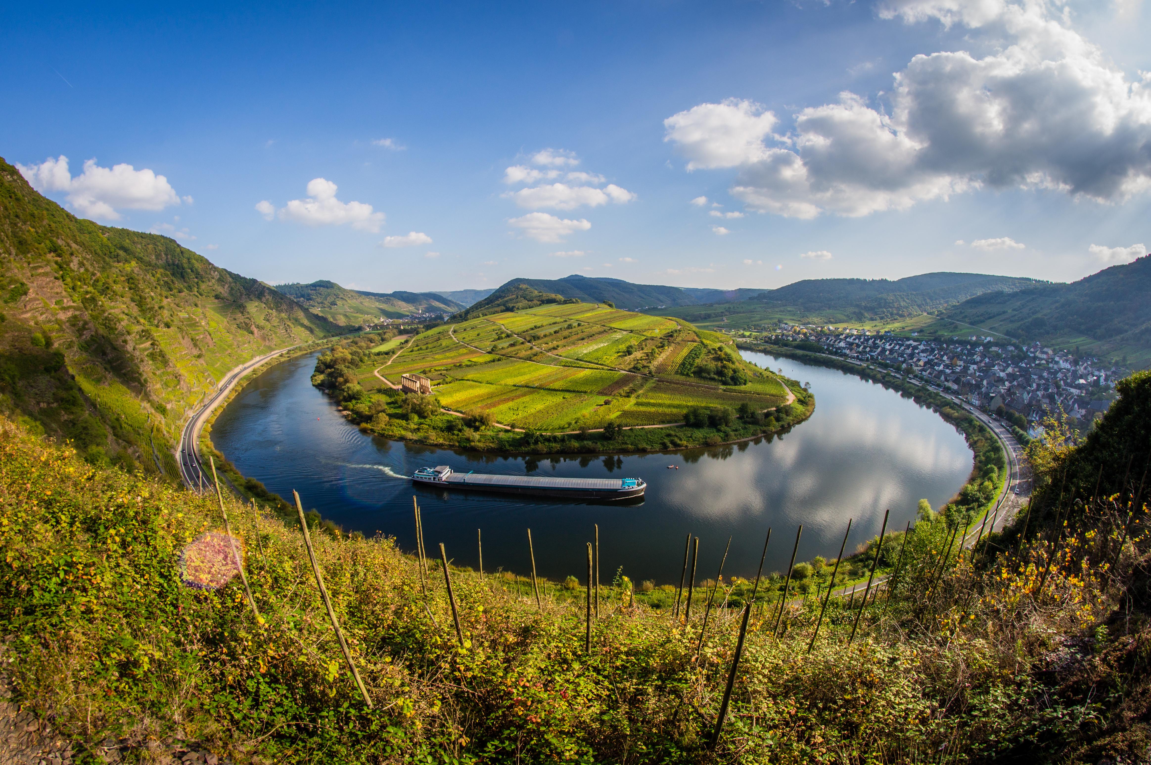 обои Германия, подкова, река, деревья картинки фото
