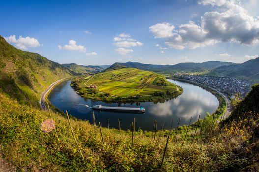 Бесплатные фото Германия,подкова,река,деревья,пейзаж