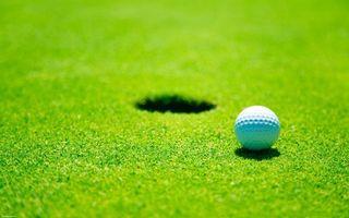 Фото бесплатно гольф, лунка, мяч