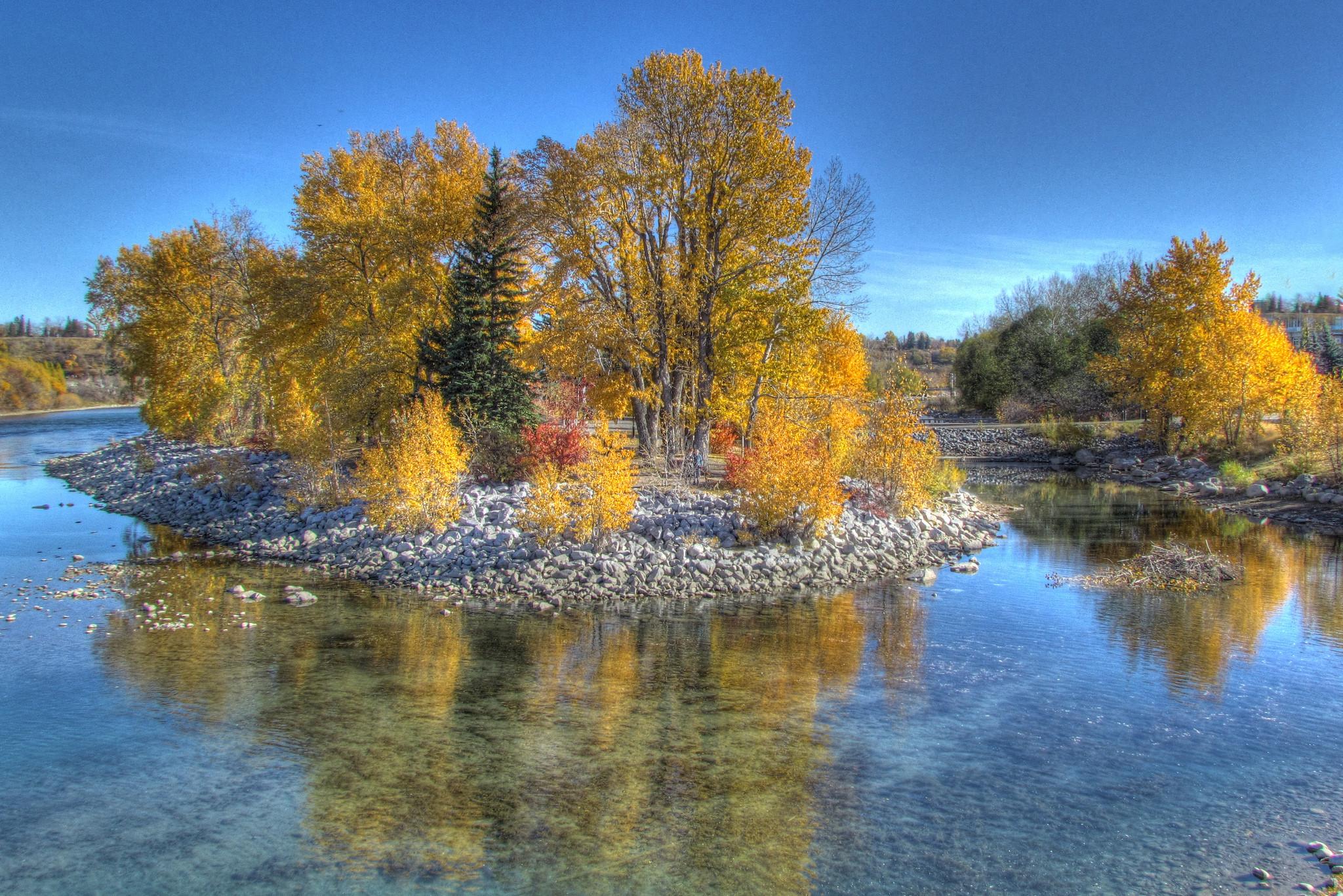обои Calgary, Alberta, река, осень картинки фото