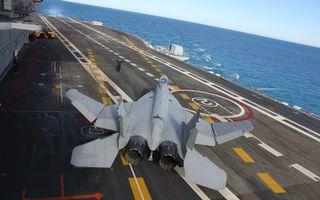Заставки МиГ-29К, истребитель, взлетная полоса, корабль, авианосец