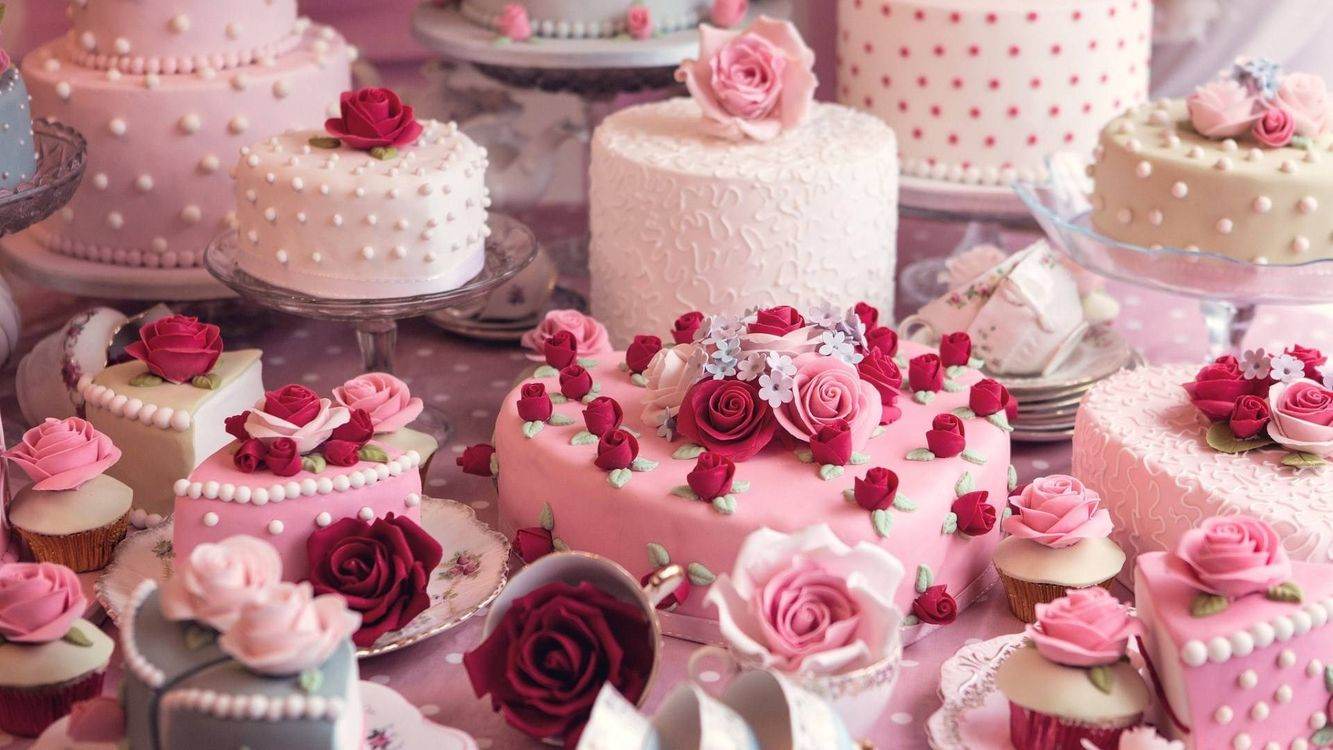 Фото бесплатно торт, розовый, свадьба, еда