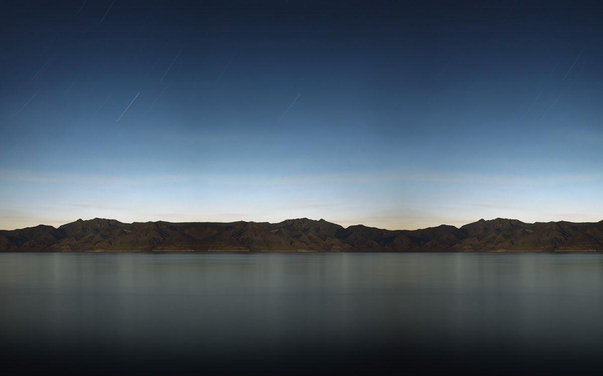 Фото бесплатно вечер, озеро, гладь, берег, горы, небо - на рабочий стол