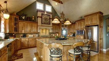 Photo free kitchen, design, cabinets