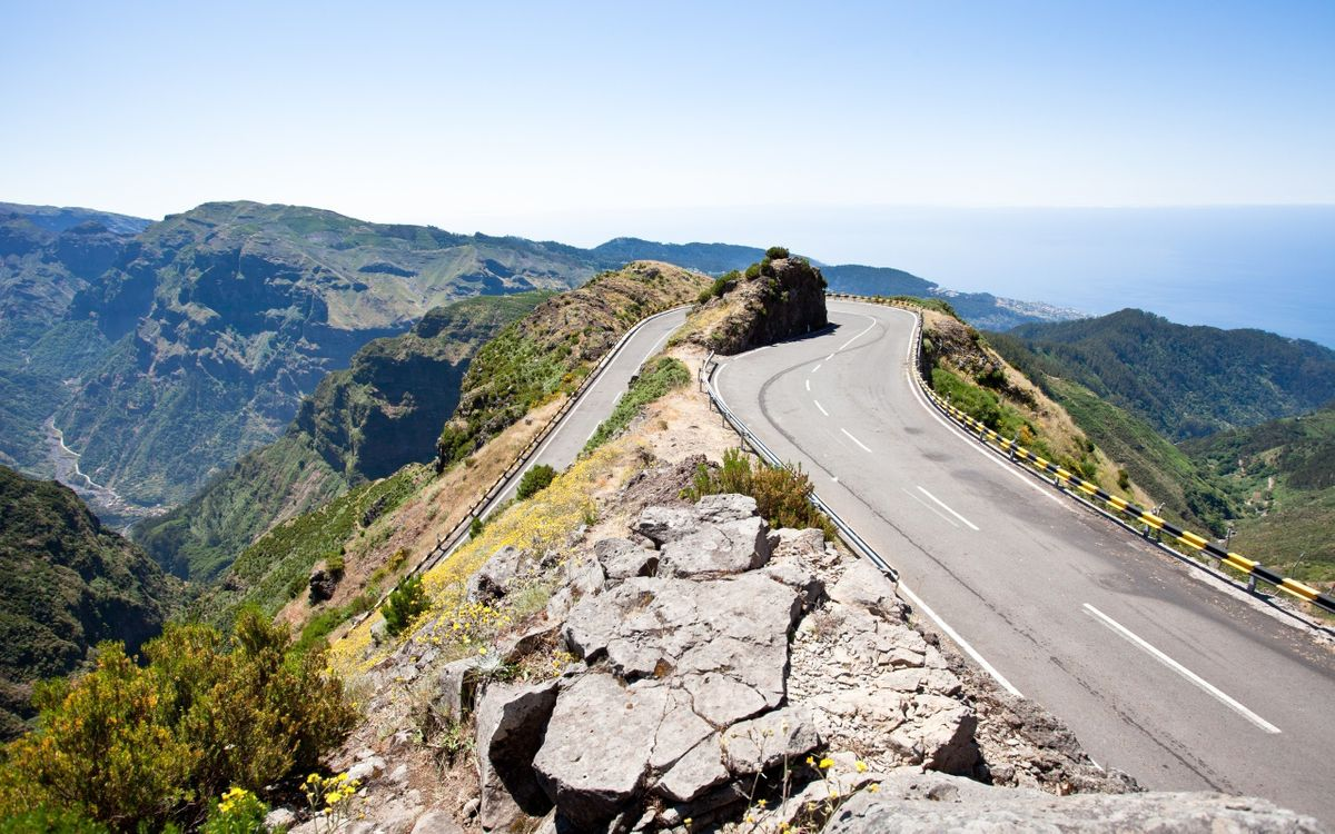 Фото бесплатно горная дорога, извилистая, асфальт - на рабочий стол