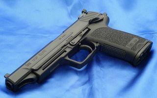 Photo free pistol, black, barrel
