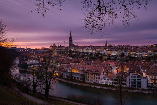 Фото бесплатно ночь, Швейцария, Берн