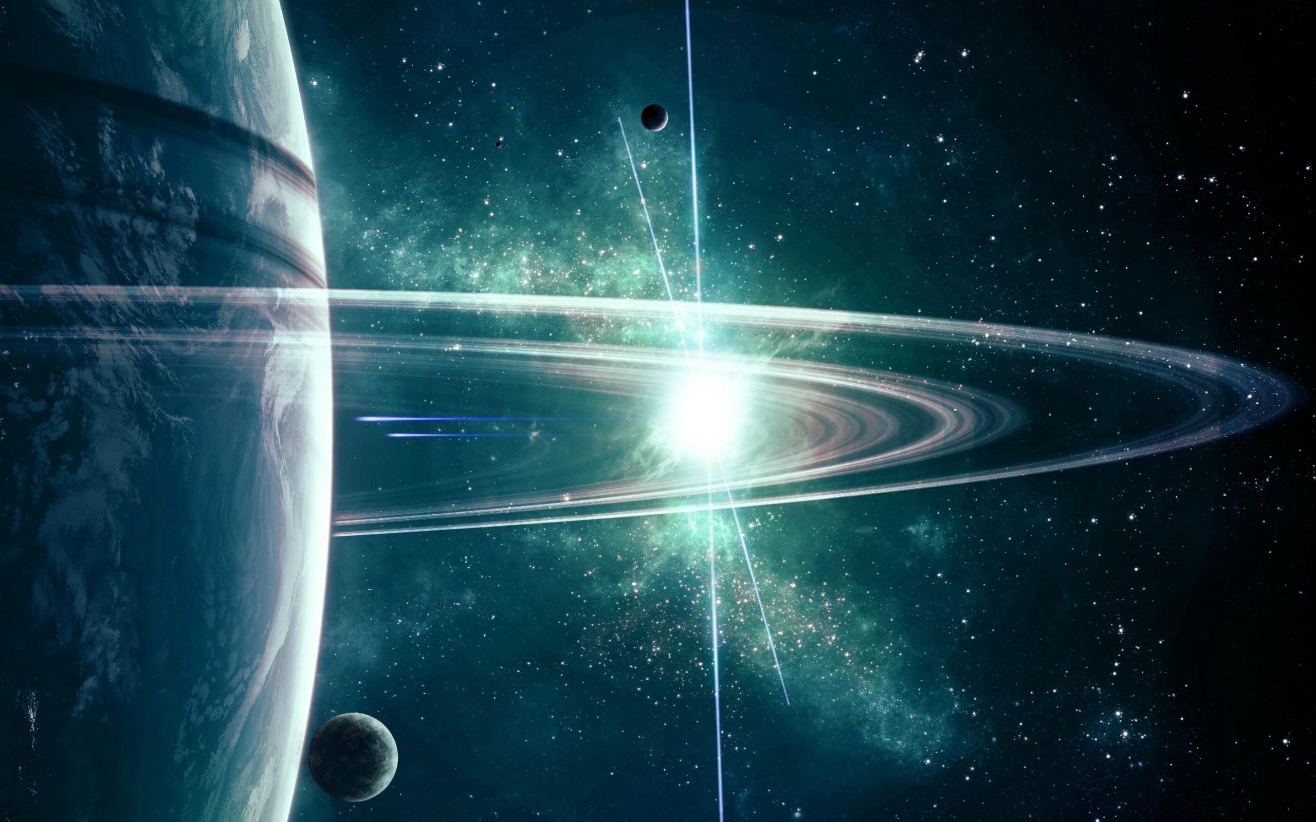 Обои Свечение за планетами картинки на рабочий стол на тему Космос - скачать  № 1772773 без смс