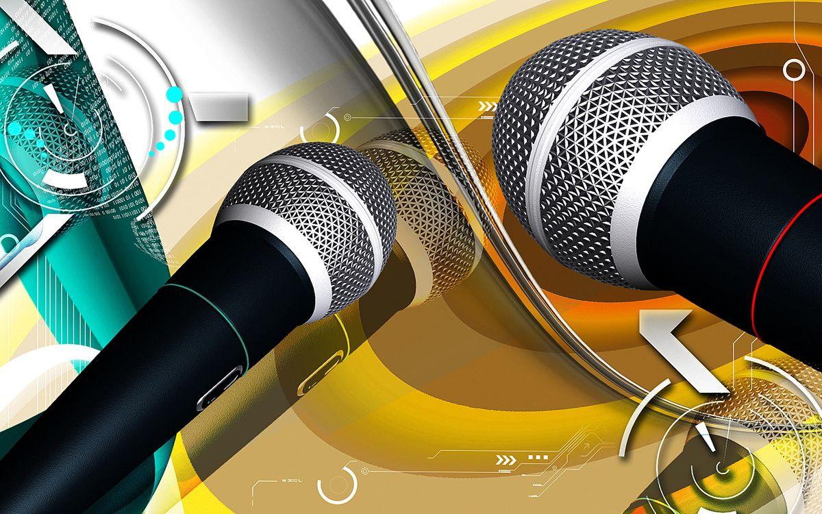 Караоке микрофон фото · бесплатное фото