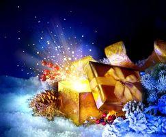 Фото бесплатно Рождество, подарки, новогодние обои