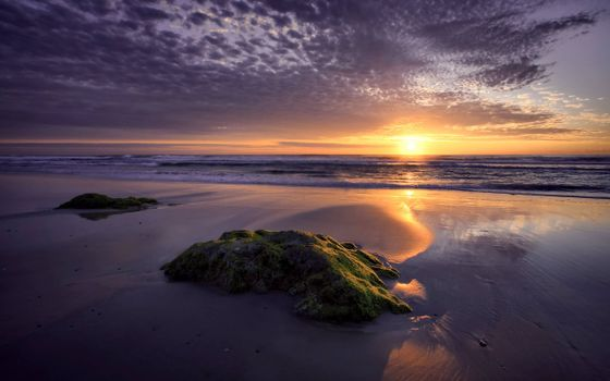 Фото бесплатно вечерний закат, море, берег