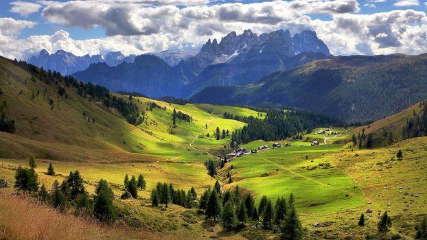 Заставки Альпы, Dolomiti, Пале-ди-Сан-Мартино