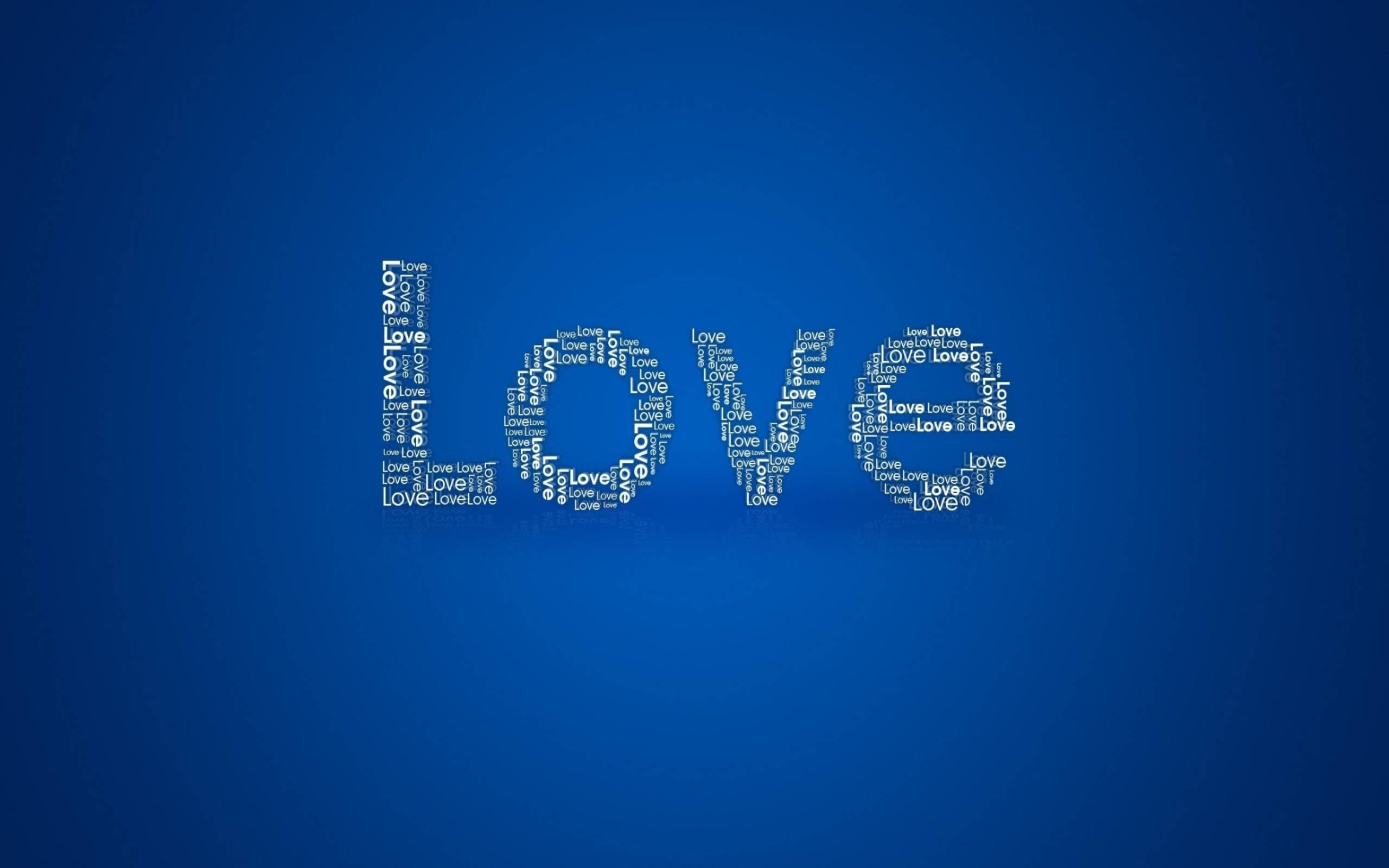 обои love, надпись, на синем фоне картинки фото