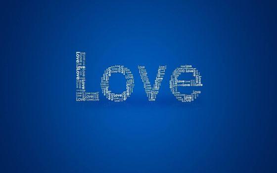 Фото бесплатно love, надпись, на синем фоне