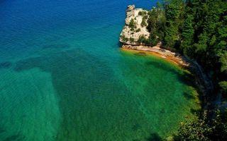 Бесплатные фото тропики,море,дно,берег,скала,растительность