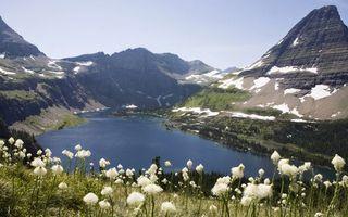 Бесплатные фото горы,скалы,снег,растительность,озеро,природа