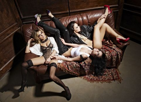 Photos of members of the group serebro, girls on the phone