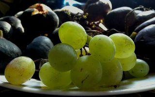 Бесплатные фото ягода,виноград,зеленый,гроздь,тарелка,белая