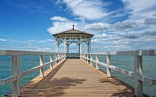 Фото бесплатно мостик, доски, перила
