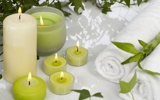 Заставки рулон, полотенце, свечи