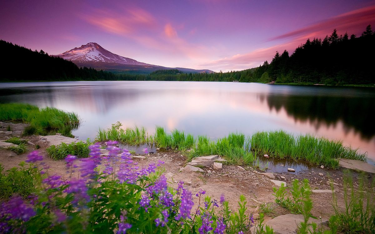 Фото бесплатно небо, горы, берег - на рабочий стол