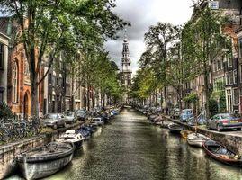 Фото бесплатно Амстердам, расположенный в провинции Северная Голландия, столица и крупнейший город Нидерландов
