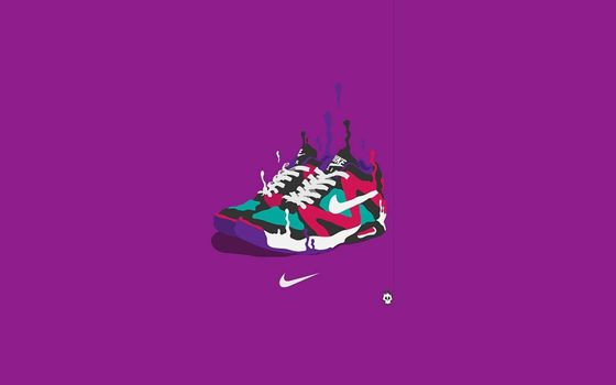 Photo free drawing, sneakers, colored