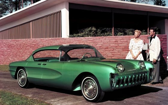 Photo free car, classic, green