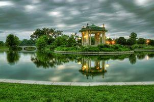 Бесплатные фото Форест-Парк,Сент-Луис,лесопарк,водоём,закат,пейзаж